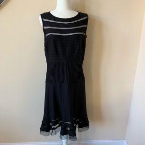 NWT! Tadashi Shoji mesh trim dress #1608